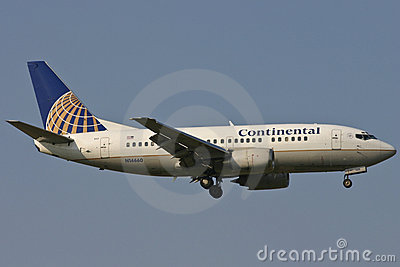 Continental Airlines Boeing 737 Plane Editorial Stock Photo