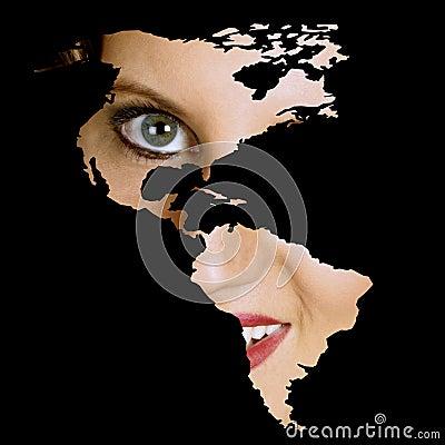 Continental American woman