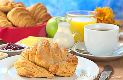 Continental Breakfast with Croissant