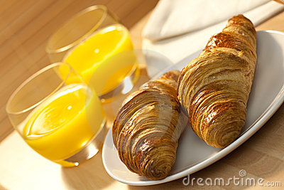 Continental Breakfast Croissant & Orange Juice