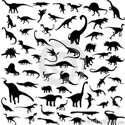 Contorno de la silueta del dinosaurio