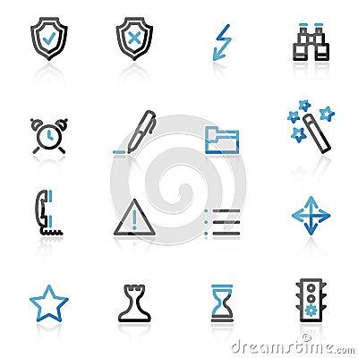Free Contour Admin Web Icons Royalty Free Stock Photos - 7212348
