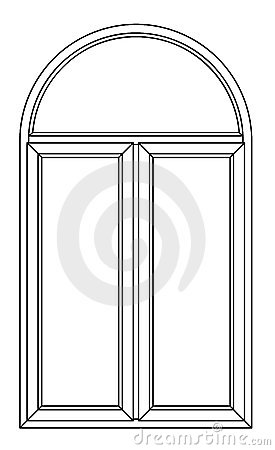 Contour arch window