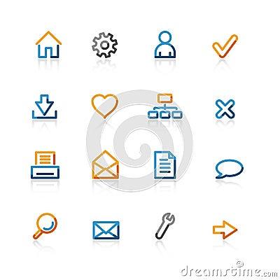 Free Contour Basic Icons Stock Image - 2240341