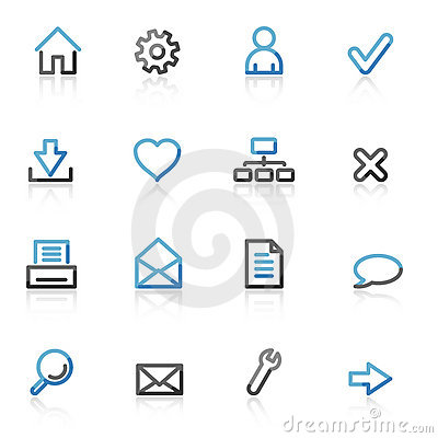 Free Contour Basic Web Icons Stock Photos - 7212573