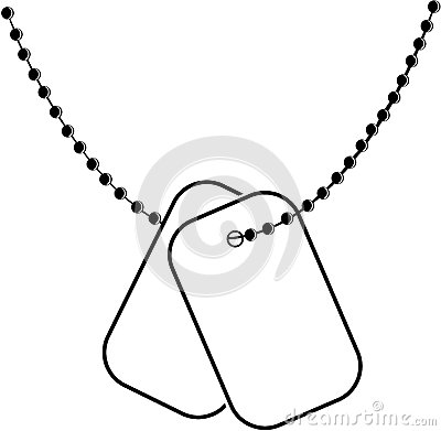 Scratched Dog Tags With Chain Stock Photo - Image: 13992780