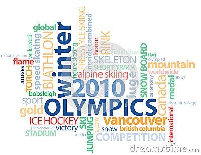 Contour du mot GFX de Jeux Olympiques de Vancouver