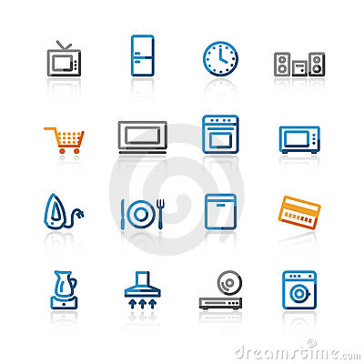 Contour household e-shop icons