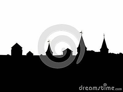 Contour of castle