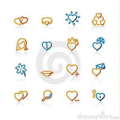 Contour love icons
