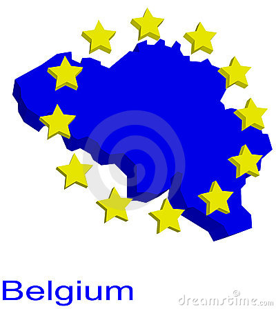 Contour map of Belgium
