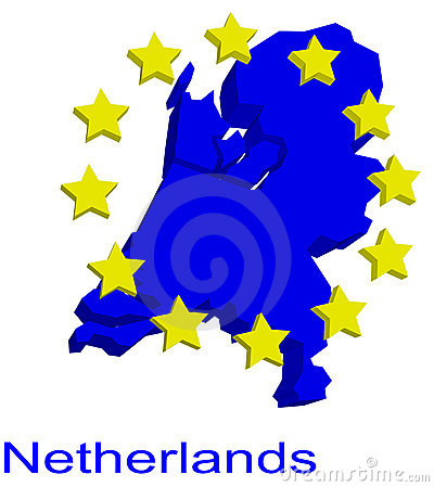 Contour map of Netherlands