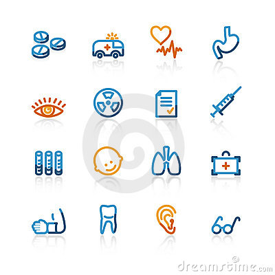 Free Contour Medical Icons Royalty Free Stock Images - 2337319
