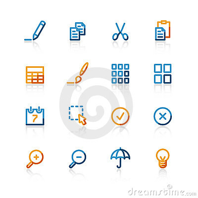 Free Contour Publish Icons Royalty Free Stock Photography - 2326387