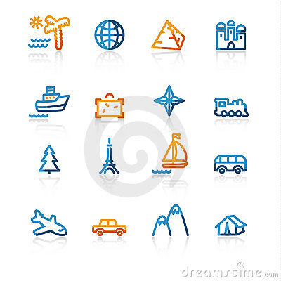 Free Contour Travel Icons Stock Photos - 2345383