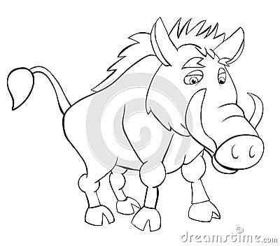 Contour wild boar