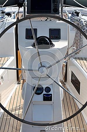 Contrôlez la plate-forme du yacht