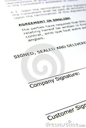 Free Contract Stock Photo - 7148010
