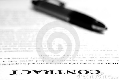 Contract On Desk Stock Photo - Image: 11121370