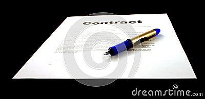 Contract & Pen