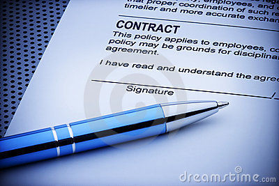 Contract Signature Document