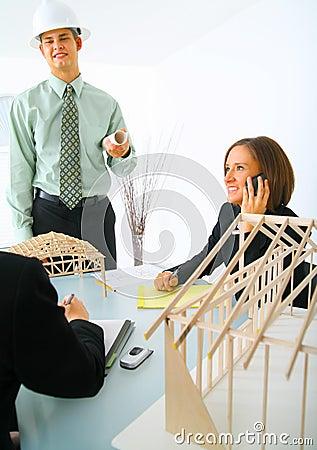 Contractor In Meeting