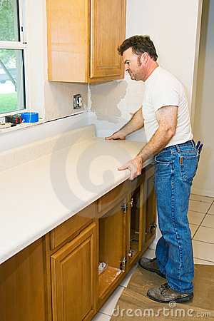 Contractor Remodeling Kitchen