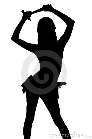 Free Contractor Silhouette With Clipping Path Stock Image - 232921