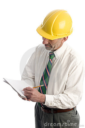 Contractor writing estimate project