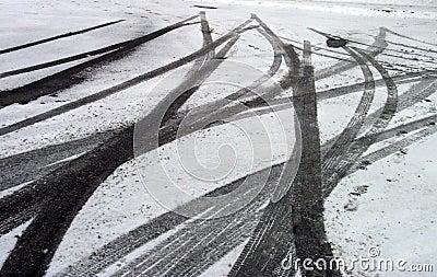Contrassegni di pattino in neve