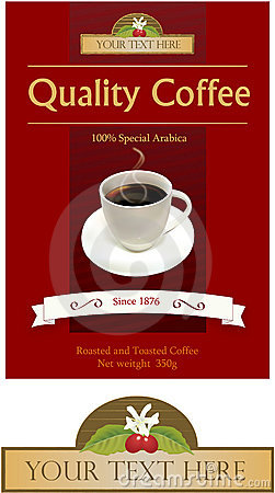 Contrassegno e marchio per la marca del caffè