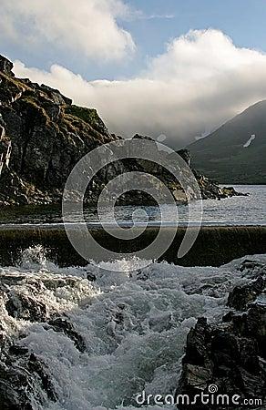 Contrast between calm and wild water