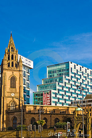 Free Contrast Of Modern And Old Building In Liverpool Stock Images - 11633654