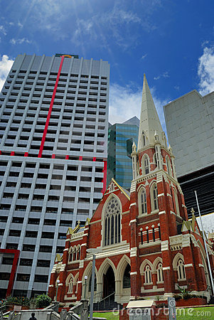 Contrast old and new Brisbane