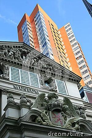 Contraste entre a arquitetura velha e nova, holland