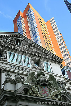 Contraste entre la vieille et neuve architecture, Hollande