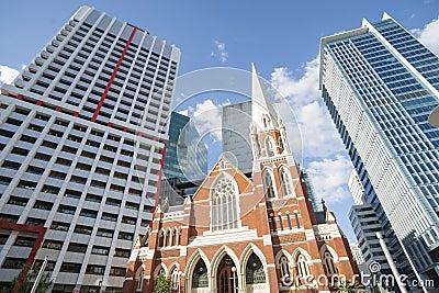 Contrasting architecture in Brisbane.