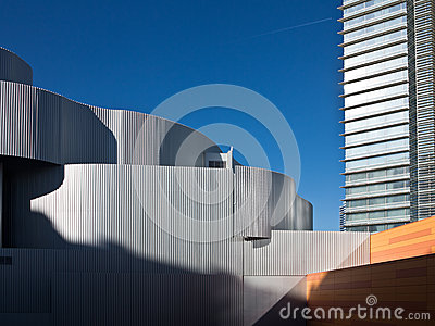 Contrasts in architecture in Las Vegas, Nevada Editorial Stock Image