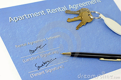 Contrato de alquiler firmado