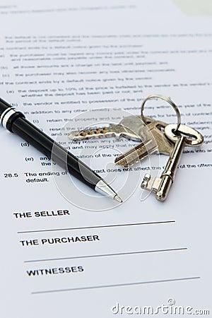 Contrato de las propiedades inmobiliarias