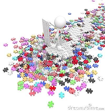 Contrôleur de puzzle denteux