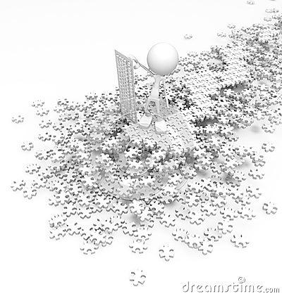Contrôleur de puzzle denteux, blanc