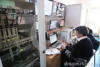 Control Center Editorial Photo