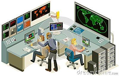 Control Center Stock Image Image 18007871