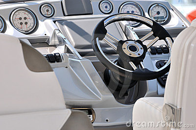 Control gage and steering wheel of yacht