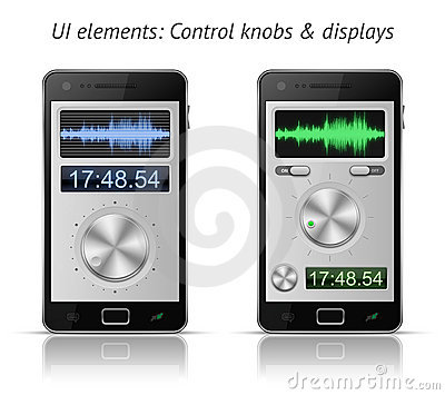 Control knobs and displays