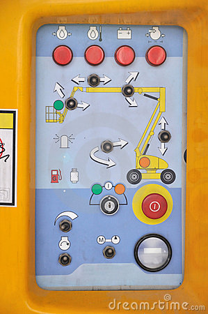 Control panel of construction equipment