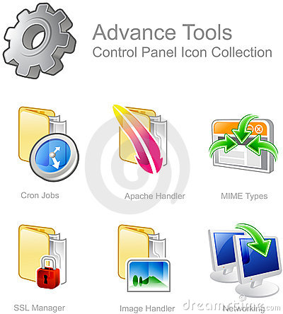 Free Control Panel Icons Royalty Free Stock Photo - 3686475