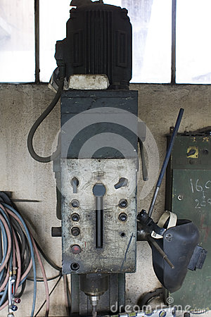 Wrought iron boring mill