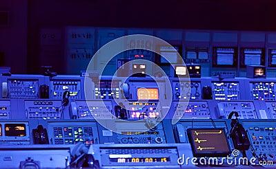 Control panels underground bunker